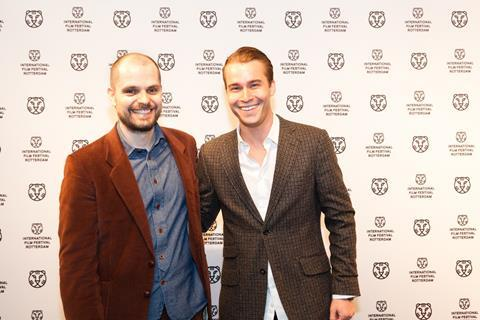 Black's Game director Oskar Thor Axelsson with actor Thorvaldur David Kristjansson